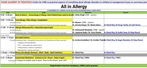 Session on allergy management in Thane |Sai Eye Allergy Asthma Hospital| Pune -Satara Rd,Pune
